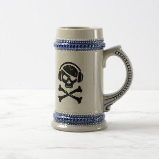 音楽海賊海賊行為のアンチriaaのロゴ ビールジョッキ