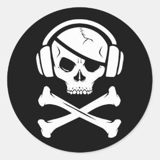 音楽海賊海賊行為のアンチriaaのロゴ ラウンドシール