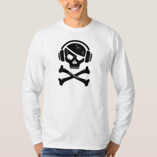 音楽海賊海賊行為のアンチriaaのロゴ tシャツ