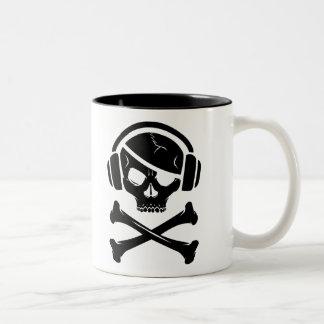 音楽海賊海賊行為のアンチriaaアイコン ツートーンマグカップ