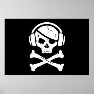 音楽海賊海賊行為のアンチriaaアイコン プリント