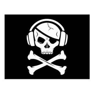 音楽海賊海賊行為のアンチriaaアイコン ポストカード