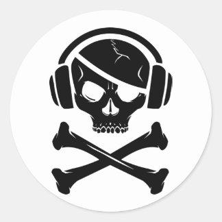 音楽海賊海賊行為のアンチriaaアイコン ラウンドシール