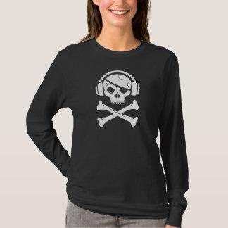 音楽海賊海賊行為のアンチriaaアイコン tシャツ