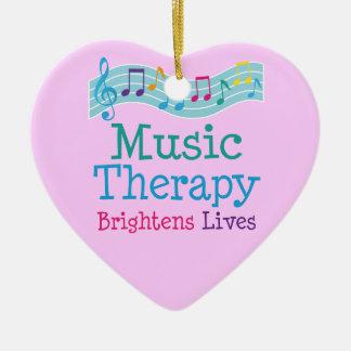音楽療法は生命を明るくします セラミックオーナメント