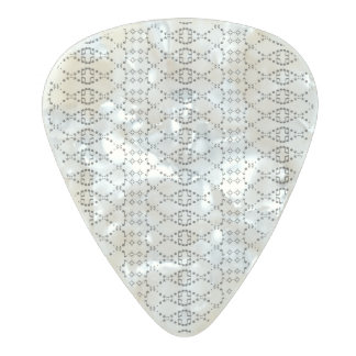 音楽白黒北欧のニットの文字ASCIIの芸術 パールセルロイド ギターピック