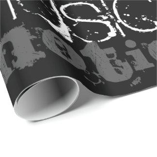 音楽的なインスピレーションの白黒ギフト用包装紙 ラッピングペーパー