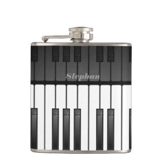 音楽的なキーボードのデザインのフラスコ フラスク