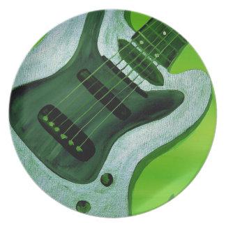 音楽的なギターのプレート プレート