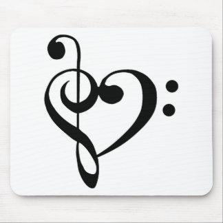 音楽的なハート マウスパッド