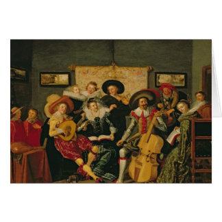 音楽的なパーティー、c.1625 カード