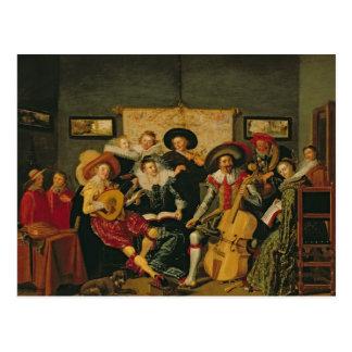 音楽的なパーティー、c.1625 ポストカード