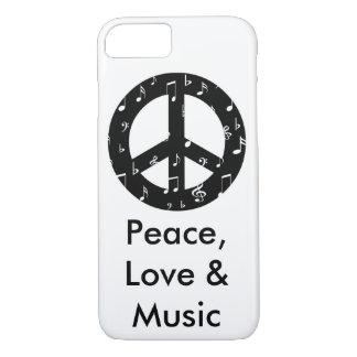 音楽的なピースサインのやっとそこにiPhone 7の場合 iPhone 8/7ケース