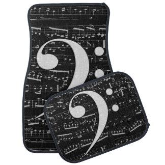 音楽的なヘ音記号の楽譜 カーマット