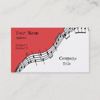 音楽的な名刺 名刺