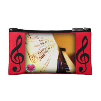 音楽的な寿命のピアノ鍵の化粧品のバッグ コスメティックバッグ