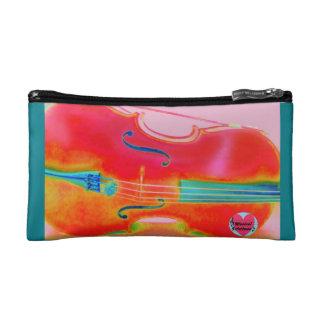 音楽的な寿命の赤いチェロの化粧品のバッグ コスメティックバッグ