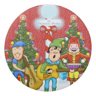 音楽的な小妖精や小人のクリスマスの消す物 消しゴム