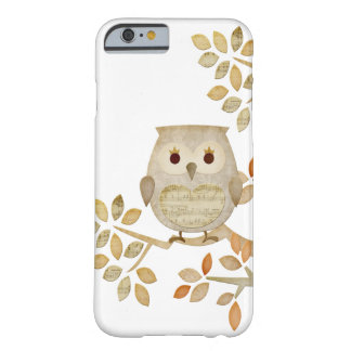 音楽的な木のフクロウの例 BARELY THERE iPhone 6 ケース