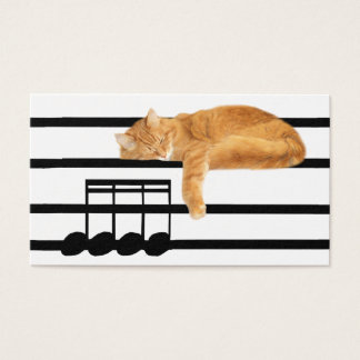 音楽的な虎猫の子猫猫 名刺