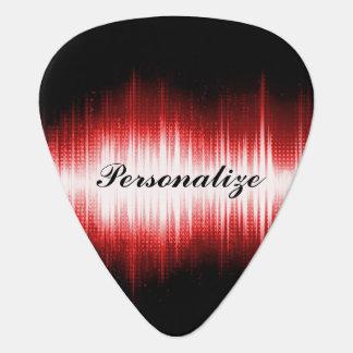 音楽的な音波のデザイン ギターピック