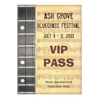 音楽祭のパスのバンジョーのBluegrassのテーマ カード