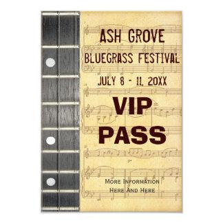 音楽祭のパスのバンジョーのBluegrassのテーマ(S) カード
