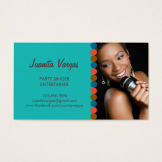 音楽結婚式の歌手の写真の名刺 名刺