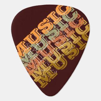 音楽茶色 ギターピック