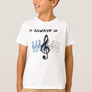 """音楽表現""""私は…高音域に常にあります"""" Tシャツ"""