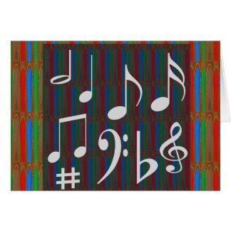 音楽記号の楽団の楽士のMastreoの歌手の歌 カード