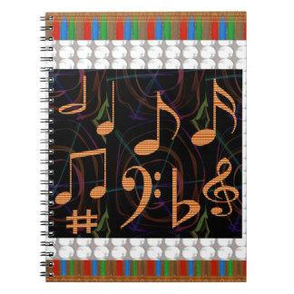 音楽記号の芸術の表示ギフト99の学生に送風します ノートブック