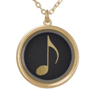 音楽記号 ゴールドプレートネックレス