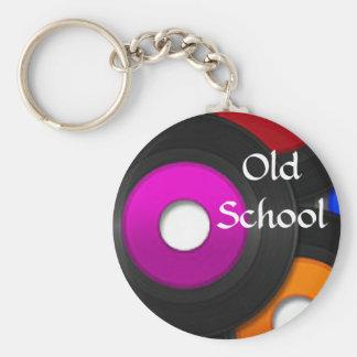 音楽記録的な古い学校Keychain キーホルダー