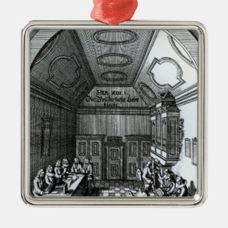 音楽部屋 シルバーカラー正方形オーナメント