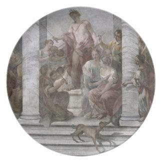 音楽部屋(フレスコ画) (および詳細60260) プレート