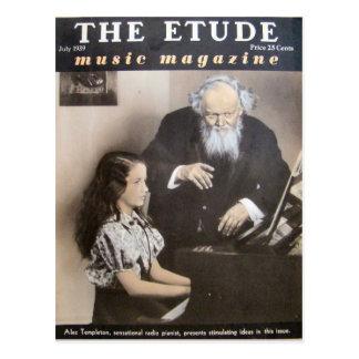 音楽雑誌、「Etude」1939年7月 ポストカード