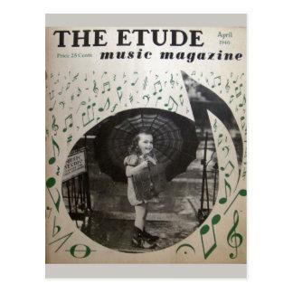 音楽雑誌、「Etude」1940年5月 ポストカード