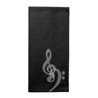 音楽-三重およびヘ音記号-ナプキン ナプキンクロス