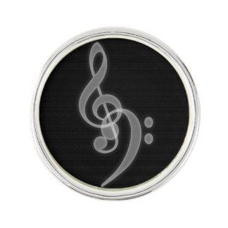 音楽-三重およびヘ音記号 ラペルピン
