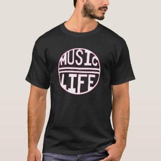 音楽=生命ピンク Tシャツ