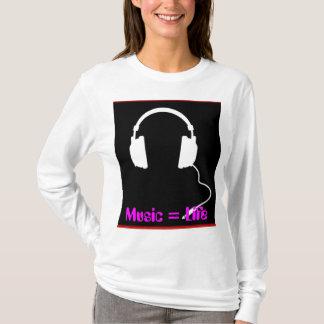 音楽=生命 Tシャツ