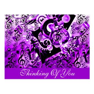 音楽、石Purple_の旅行 ポストカード
