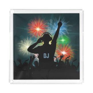 音楽DJのカスタムなモノグラムのサービングの皿 アクリルトレー