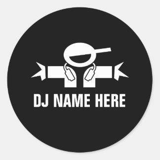 音楽DJのディスクジョッキーのためのDJの一流のステッカー ラウンドシール