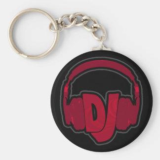 音楽DJのヘッドホーン キーホルダー
