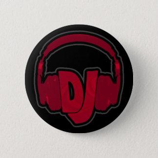 音楽DJのヘッドホーン 缶バッジ