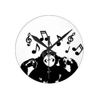 音楽monkeymonkey ラウンド壁時計