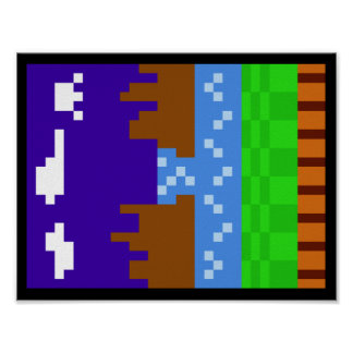 音波のポスター1枚(Pixelated) ポスター