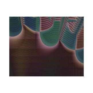 音波の幾何学的なフラクタルのバックラム キャンバスプリント